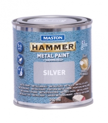 Maston Hammarlack metallfärg silver 250ml